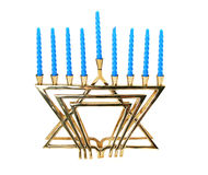 Hanukah Menorah - isolado foto de stock royalty free