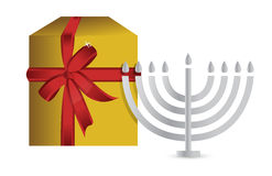 Hanukah present gift box Stock Images