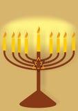 Hanukiah con las velas libre illustration