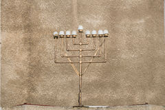 Hanukiah at the Great Synagogue in Tel Aviv Royalty Free Stock Image