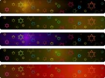 Hanukka banners set Stock Photos