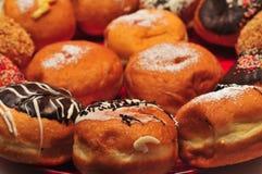 Hanukka Doughnuts. Jewish Hanukka holiday Doughnuts - delicious Sufganiot Royalty Free Stock Images