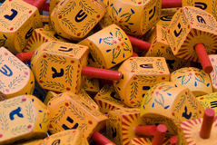 Hanukka Dreidels Stock Photography