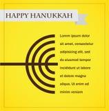 Hanukka menorah auf Gelb. glückliches Chanukka Lizenzfreies Stockfoto