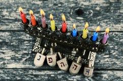 Hanukkah Żydowski festiwal świateł Obrazy Royalty Free