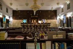 Hanukkah στη συναγωγή στοκ εικόνα