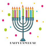 hanukkah счастливый иллюстрация штока
