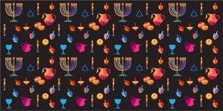 hanukkah illustration de vecteur