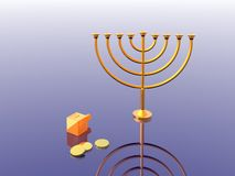 Hanukkah. Illustration. Menorah. 3D. Look my portfolio Stock Photos