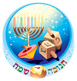 Hanukkah. Magic and miracles, faith in God and Jewish tradition Royalty Free Stock Images