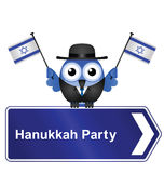 Hanukkah. Party sign isolated on white background