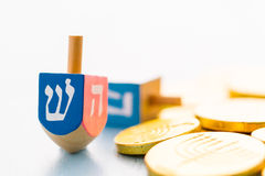 Hanukkah. A still life composed of elements of the Jewish Chanukah/Hanukkah festival stock image