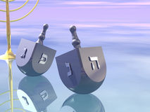 Hanukkah. Celebration. Dreidel. Jewish tradition. 3D rendering Stock Photos