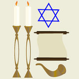 Hanukkah libre illustration