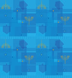 Hanukkah Abstract Pattern Royalty Free Stock Photography