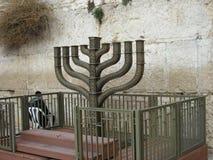Hanukkah alla parete Fotografia Stock