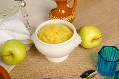 Hanukkah apple sauce Stock Photography