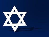 Hanukkah Background. Star of David blue Hanukkah holiday background
