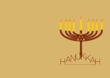 Hanukkah background with copy space Royalty Free Stock Image