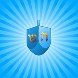 Hanukkah background with dreidel Stock Image