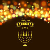Hanukkah background with menorah and lights. Vector illustration Royalty Free Stock Photos