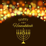 Hanukkah background with menorah and lights. Vector illustration Royalty Free Stock Photography