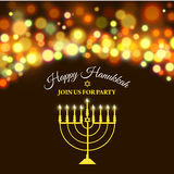 Hanukkah background with menorah and lights. Vector illustration Royalty Free Stock Image