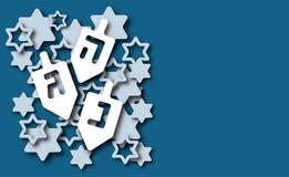 Hanukkah background paper cut design stock illustration