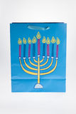 Hanukkah Bag. A Hanukkah gift bag against a white background