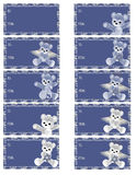 Hanukkah Bear Gift Tags Royalty Free Stock Images