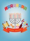 Hanukkah blue background. Stock Images