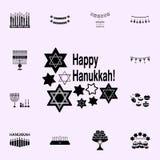 hanukkah cand pictogram Voor Web wordt geplaatst dat en het mobiele algemene begrip van Chanoekapictogrammen royalty-vrije illustratie