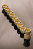 A hanukkah candelabrium Stock Image