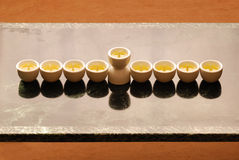 A hanukkah candelabrium. Biblical style stock photography
