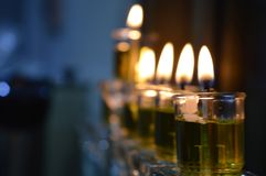 Hanukkah Candle royalty free stock photography