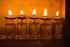 Hanukkah candles. In Israel Stock Photos
