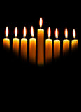 Hanukkah Candles Royalty Free Stock Photo
