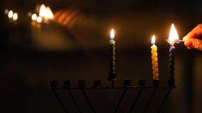 Hanukkah candles stock video