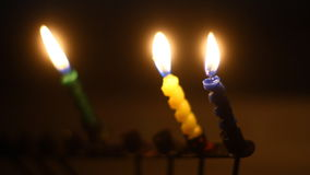 Hanukkah candles stock video footage