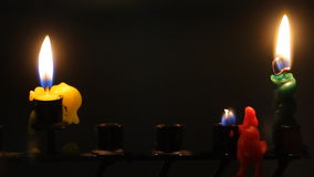 Hanukkah candles stock video