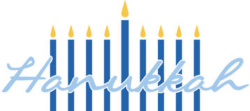Hanukkah Candles Stock Image