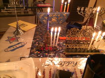 Hanukkah Candles Stock Photography