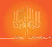 Hanukkah Candles Stock Photos