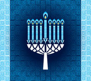 Hanukkah candles with pattern stock illustration