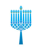 Hanukkah candles Star of David Stock Photo