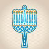 Hanukkah Candles. Whimsical graphic design Stock Image