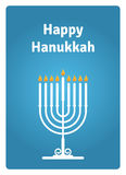 Hanukkah card candle Royalty Free Stock Photography
