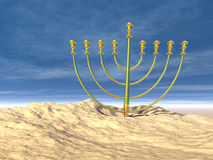 Hanukkah celebration. Jewish tradition. 3D illustration Royalty Free Stock Image