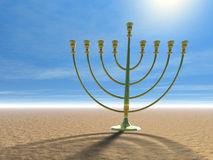 Hanukkah celebration. Jewish tradition. 3D illustration Royalty Free Stock Photos