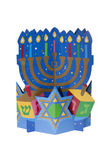 Hanukkah Centerpiece. A Hanukkah centerpiece against a white background Stock Photography